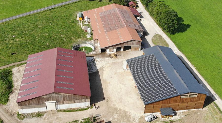 Réalisation projet de séchage en grange des fourrages solaire, photovoltaïque