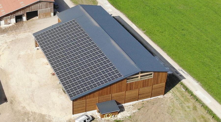 Séchage en grange solaire, photovoltaïque, déshumidificateur