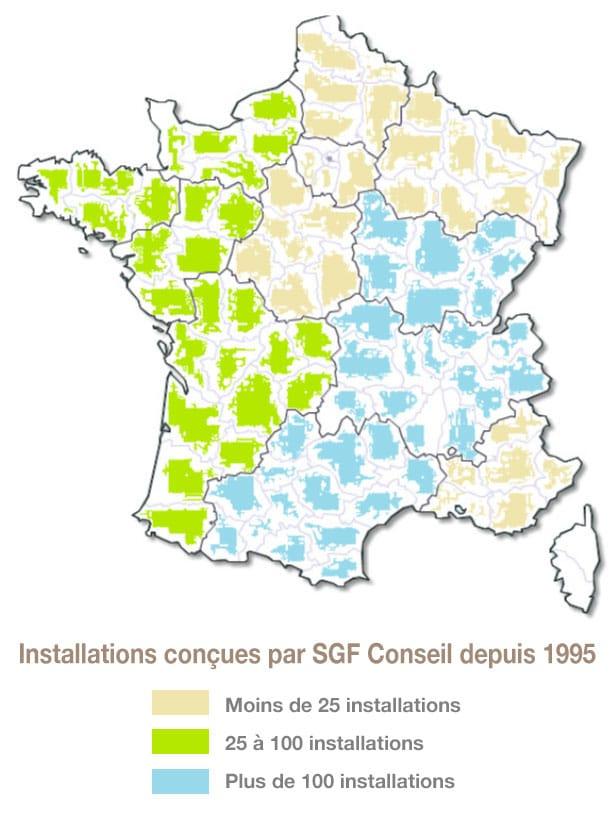 Installations de granges de séchage de fourrage réalisées par Yann Charrier - SGF Conseil